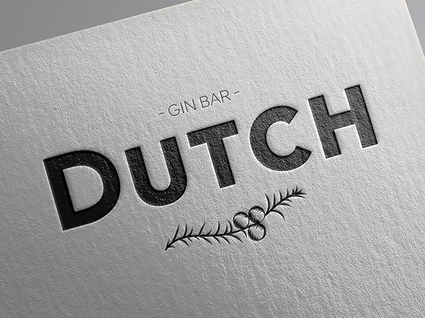 branding custom logotype design for bristol based Dutch Gin Bar
