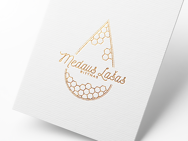 unique logo design for Medaus Lasas apiary by wondersomethings mockup