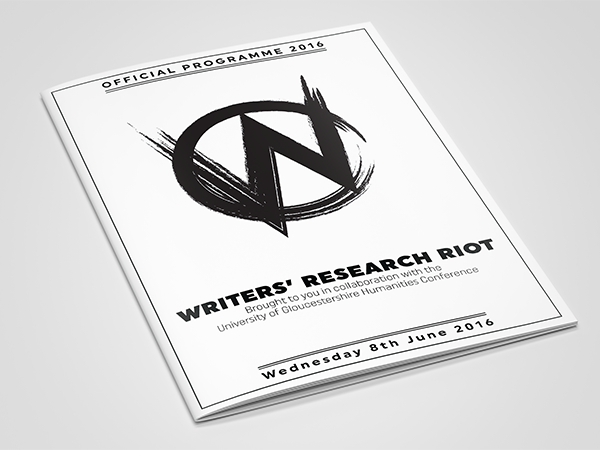 <span>Writers' Research Riot. Logo & Booklet Design.</span><i>→</i>