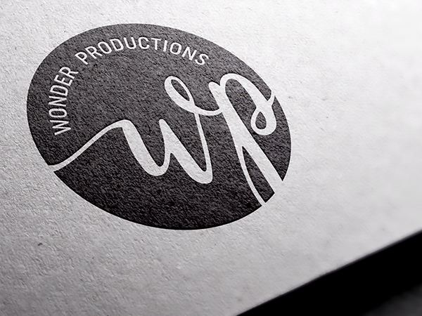 Circular logotype logo design for Wonder Productions