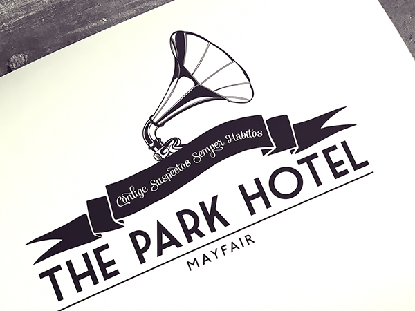 Logo design for Park Hotel, Mayfair @ Boomtown Festival