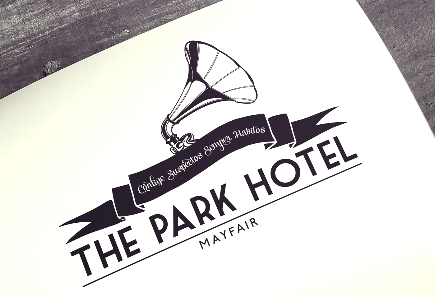 Bespoke logo design for Park Hotel, Mayfair at Boomtown Festival