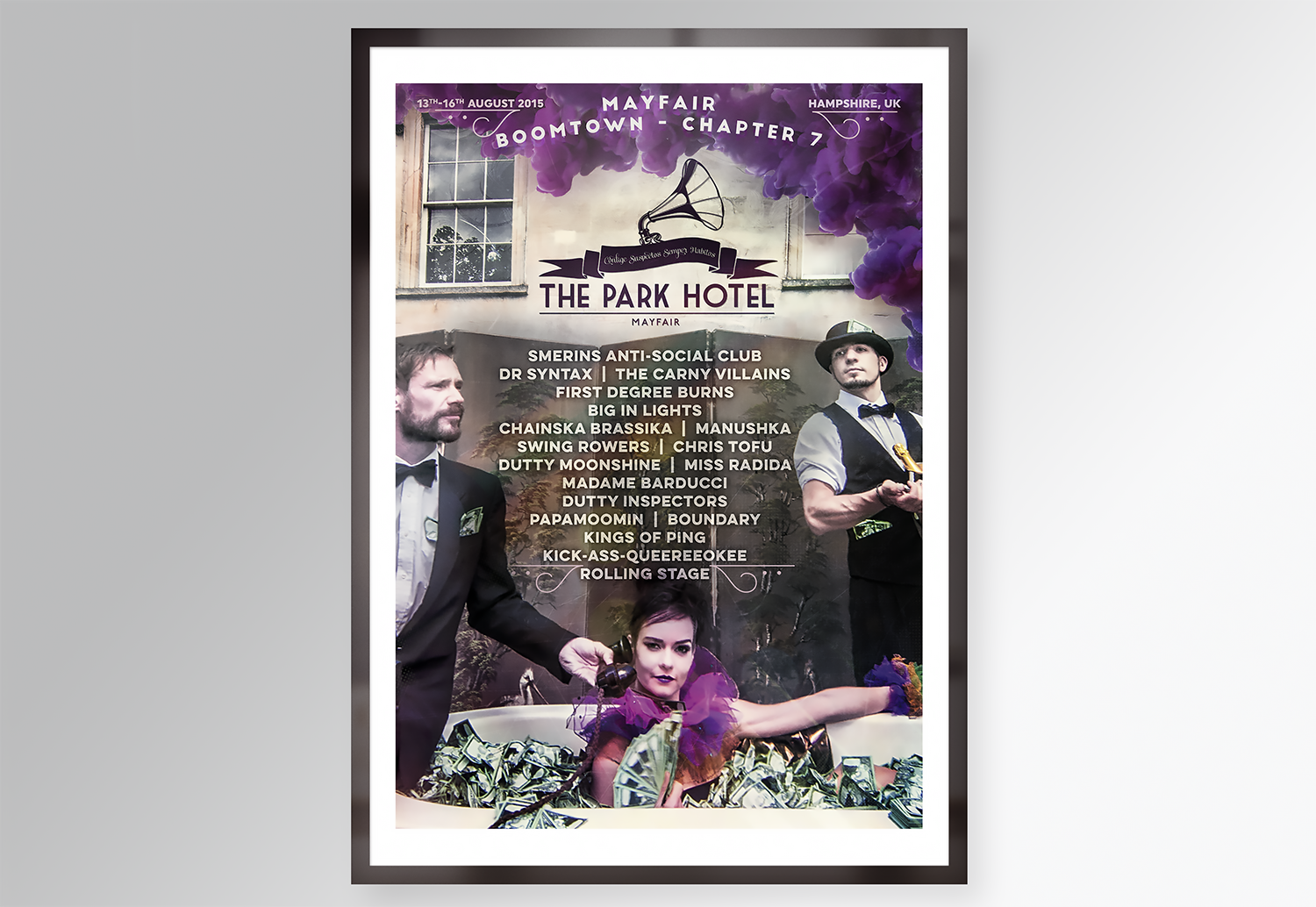 Park Hotel, Mayfair @ Boomtown Festival Poster Design